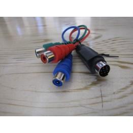 خروجی کابل AV به Audio و Video