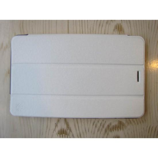 کیف کلاسوری سفید چرمی تبلت هواوی HUAWEI Tab3  710l Folio Book Cover | S8-701U