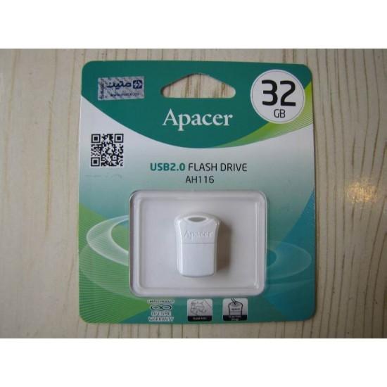فلش مموری اپيسر مدلAH116 ظرفيت 32گيگابايت | Apacer AH116 USB 2.0 Flash Memory - 32GB