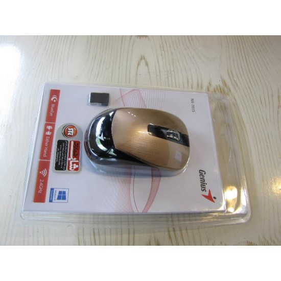 ماوس بي سيم جنيوس طلایی مدل Genius NX-7015 wireless Mous  | NX-7015
